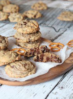Salty Pretzel Chocolate Chip Cookies