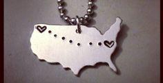 Long Distance USA Pendants