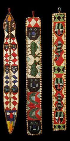 Ìgbádìí Yorùbá - Sash  Are beaded Sashes worn together to match clothing attire, costumes, etc.