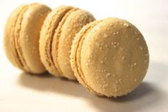 Salted Caramel French Macarons by TC Paris:  A customer top pick!  Caramel shells with just a hint of coffee to pop the amazing brulee whipped sea-salted caramel filling.