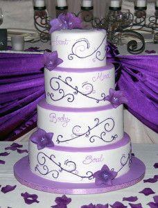 Amazing Design Wedding Cake Purple 228x300 Modern Wedding Cake Designs