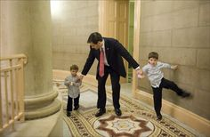"""These 2 little boys would look great living in the house at """"Number One Observatory Circle"""" beginning next January.  (Sen. Marco Rubio and his two kids)"""