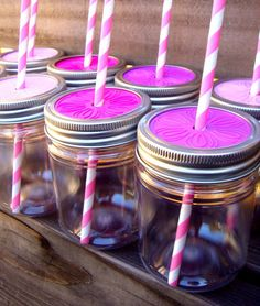 Plastic Mason Jar with lid, Cups for Kids, Birthday Party, Birthday Party Favor, 12 ounces