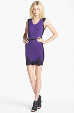 Robert Rodriguez Lace Hem Sheath Dress available at #Nordstrom