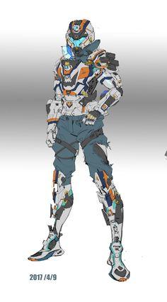 Robot concept art sci fi future soldier 51 Ideas for 2019 Mode Cyberpunk, Cyberpunk Kunst, Sci Fi Kunst, Robot Concept Art, Armor Concept, Character Concept, Character Art, Science Fiction, Arte Robot