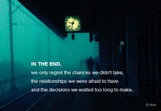 In the end we waited too long but we did decide.