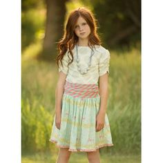 Persnickety Ruched Waist Skirt Deer