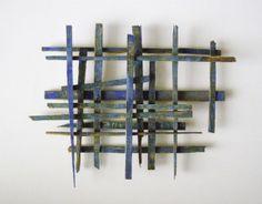 'Crate' (2008) by Australian artist Jason Fitzgerald (b.1972). Upcycled timber  acrylic paint, 40 x 40 x 3 cm. source: the artist's site via Lari Washburn