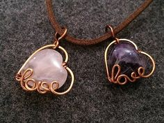 DIY - Wire Jewelry Lessons - handmade jewelry tutorials - How to make Love Heart Pendant - YouTube
