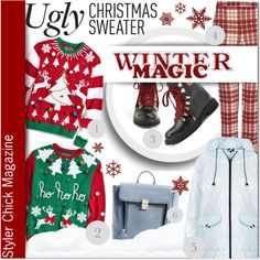 """Ugly Christmas Sweater"" by barbarela11 on Polyvore"