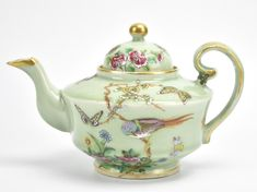 Buy online, view images and see past prices for A Chinese Celadon Famille Rose C. Invaluable is the world's largest marketplace for art, antiques, and collectibles. Celadon, Teapots And Cups, Tea Art, Tea Service, Butterfly Flowers, Decoupage, Chocolate Pots, China Patterns, Kakao