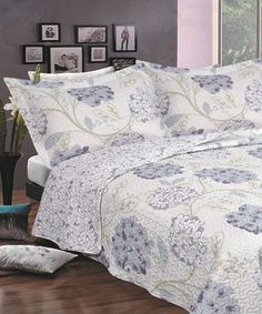 Another great find on #zulily! Lavender Reversible Quilt Bedding Set by Baltic Linen #zulilyfinds