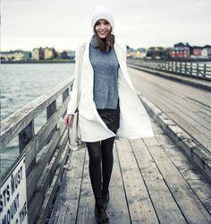 Anouska Proetta Brandon - American Apparel Beanie, Choies Jumper, Choies Coat, Guess? Skirt, Office Shoes - Bullwall.