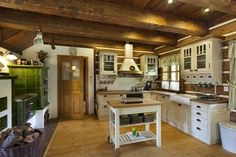 Weekend House, Kitchen Upgrades, Log Homes, Home Fashion, Kitchen Furniture, Cottage, House Design, Cabin, House Styles
