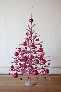 Pink Christmas Tree::With Pink Decos