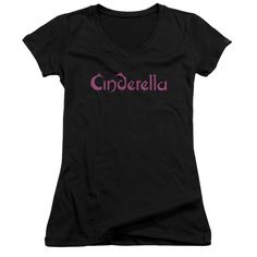 """Checkout our #LicensedGear products FREE SHIPPING + 10% OFF Coupon Code """"Official"""" Cinderella / Logo Rough-junior V-neck - Cinderella / Logo Rough-junior V-neck - Price: $29.99. Buy now at https://officiallylicensedgear.com/cinderella-logo-rough-junior-v-neck"""