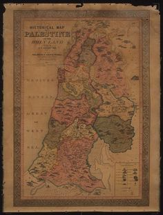 Historical map of Palestine or the Holy Land · Assheton, J. T. · 1849. · Albert and Shirley Small Special Collections Library, University of Virginia.