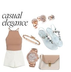 """""""Esmirie casual"""" by lisamarieweideman on Polyvore featuring NLY Trend, Moschino Cheap & Chic, GUESS, Hoorsenbuhs, Michael Kors and 8"""