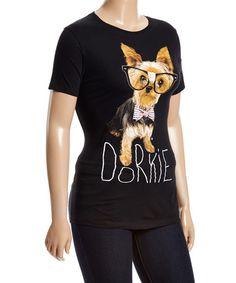 Another great find on #zulily! Black 'Dorkie' Yorkshire Terrier Tee - Plus #zulilyfinds