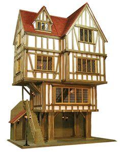 Maple Tudor Dollshouses- The Guildhall Dolls House