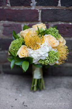 Yellow Wedding Flowers    www.stacyrichardsonphotography.com