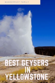 Best Geysers in Yellowstone. The Best Yellowstone Geysers - a list of the ultimate Yellowstone attractions - geyser edition including Old Faithful! #yellowstone #yellowstonenp #yellowstonenationalpark #visitingyellowstone #oldfaithful #yellowstonegeysers #geysers