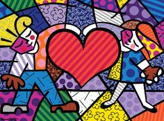 my son's fiance...a Britto fan.
