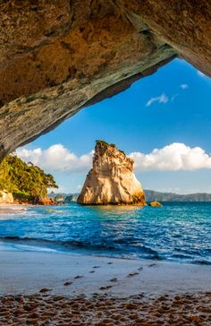 Beautiful Sites at Cathedral Cove Beach, New Zealand-- We're planning 2 nights here!