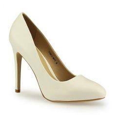 Pumps schlicht, günstige Alternative zu Rihanna's Schuhen #affordable #white #highheel #metgala2014 #jepo #shoes