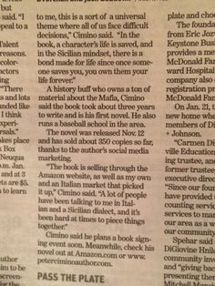 Second part of my article in the Naperville Sun - Friday Jan. Fiction Novels, Say Hello, Short Stories, My Books, Friday, Sun, Sayings, Friends, Amigos