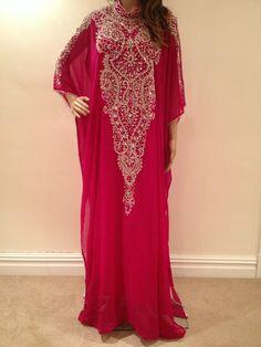 Jalabiya, Dress, Abaya, Jilbab, Farasha, Pink, Kaftan,Khaleeji, Maxi Gelabia, | eBay