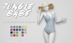 "toxicpancakes: "" Hey, all! I bring to you a new swimsuit because, well, that department is lacking! I saw the top from Jungle Adventure and instantly saw it as a bathing suit and here we are! Comes in 24 of my Maxis Match colors. It is base game..."