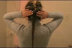 How to French braid your hair by yourself