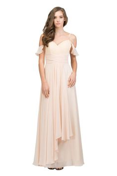 8f0d034dd8f84 This draped off-shoulder dress from Star Box offers a corset back.  Available in. Bridesmaid ...