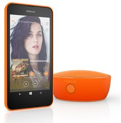 Nokia Lumia 630 Orange with bluetooth mini speaker