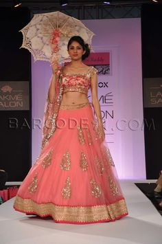 Had watched this show right from the front row at Lakme Fashion Week. #LFW