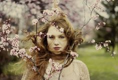 Spring awakening by Muna Nazak Tree People, Girls With Red Hair, Spring Awakening, Simply Red, Blossom Trees, Face Claims, Redheads, The Dreamers, Portrait Photography