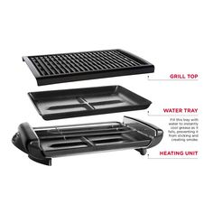 Chefman Healthy Electric Smokeless Indoor BBQ Grill & Griddle with Non-Stick Cooking Surface & Adjustable Temperature Control & Reviews   Wayfair Electric Bbq Grill, Grill Plate, Indoor Grill, Grilled Veggies, Drip Tray, Kitchen Equipment, Grilling, Surface, Cool Stuff