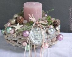 Adventskranz Best Picture For DIY Candles tin For Your Taste You are looking for something, and it is going to tell you exactly what you are looking for, and you didn't find that picture. Christmas Advent Wreath, Christmas Candles, Noel Christmas, Pink Christmas, Christmas Crafts, Christmas Decorations, Xmas, Holiday Decor, Advent Wreaths