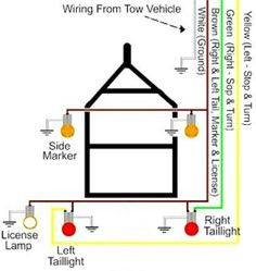 trailer wiring diagram 6 wire circuit jeep pinterest diagram rh pinterest com