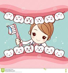Illustration about Cute cartoon dentist doctor brush tooth, great for health dental care concept. Dental World, Dental Life, Dental Art, Medical Dental, Humor Dental, Dental Hygienist, Dental Implants, Dental Assistant Humor, Dental Surgery