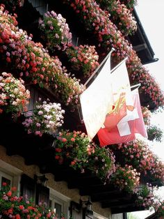 Flower balconies, Switzerland