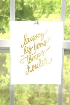 Laissez Les Bons Temps Rouler Art Print