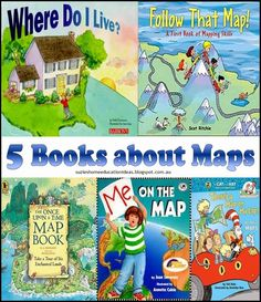 Introducing Maps to Early Learners - 5 Picture books about Maps