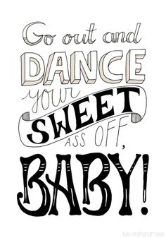 "Typo Poster ""Dance"" / typo artprint ""dance"" by luloveshandmade via DaWanda.com"
