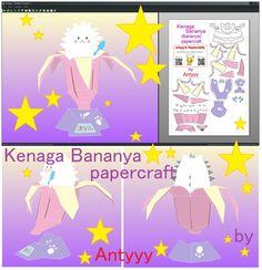 Kenaga Bananya papercraft (free papercraft) by Antyyy.deviantart.com on @DeviantArt