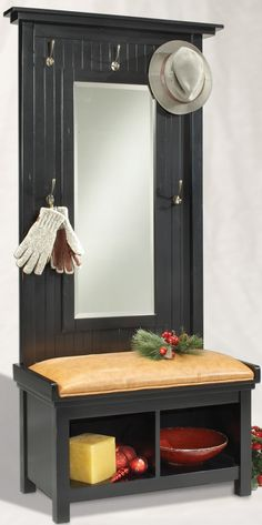 hall tree with storage bench | ... Seating, Benches, Indoor Benches, Entryway Benches, Hall Tree Benches