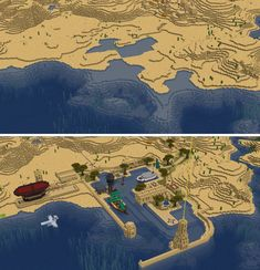 24 hour build - Desert Port By u/dom_bul Minecraft Building Guide, Minecraft Plans, Minecraft Room, Minecraft City, Minecraft Construction, Minecraft Survival, Minecraft Blueprints, Minecraft Buildings, Minecraft Medieval