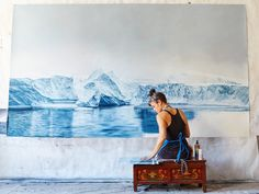 """Zaria Forman's large-scale compositions of melting glaciers, icebergs floating in glassy water and waves cresting with foam explore moments of transition, turbulence and tranquility. Join her as she discusses the meditative process of artistic creation and the motivation behind her work. """"My drawings celebrate the beauty of what we all stand to lose,"""" she says. """"I hope they can serve as records of sublime landscapes in flux."""""""