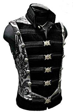 Shrine Dominion Military Steampunk Gothic Goth Army Pirat Rocker Jacket Vest XL for sale online Steampunk Men, Steampunk Fashion, Gothic Fashion, Mens Fashion, Vampire Fashion, Steampunk Couture, Fashion Vest, Victorian Men, Victorian Steampunk